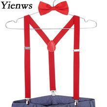 Yienws красный галстук-бабочка подтяжки для мужчин Suspensorio женщин мужчин s подтяжки для брюк темно-синий Erkek Jartiyer Szelki Do Spodni YiA001