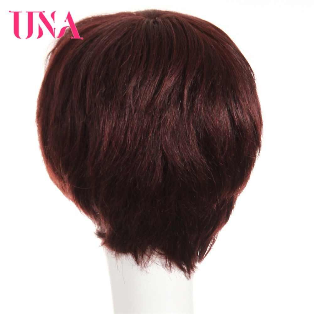 Widget można wykorzystywać jako karaoke UNA Remy brazylijski proste włosy ludzkie peruki #6411 120% gęstość kolor #1 # 1B #2 #4 #27 #30 #33 # 99J # BUG #350 #2/33 dostępne