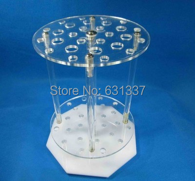 Free shipping 42 holes circular pipette stand Organic glass graduated pipette rack pipette holder 42 holes circular pipet rack holes