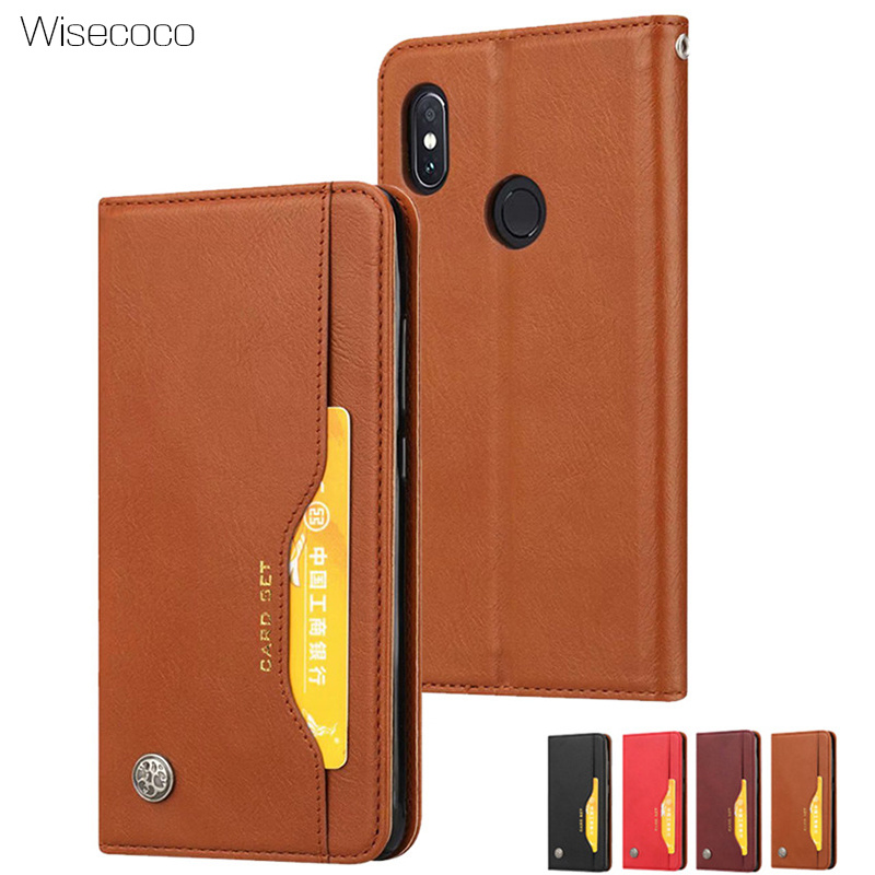 Wallet Flip Cover For <font><b>Xiaomi</b></font> <font><b>Mi</b></font> <font><b>8</b></font> SE 6X A2 Mix 2S Luxury Leather Card Slots Stand Phone Cases For <font><b>Mi</b></font> Redmi S2 Y2 Note 5 <font><b>6</b></font> 6A Pro image