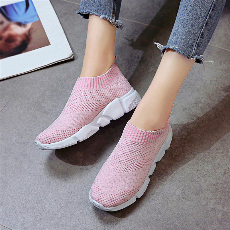 2018 New Outdoors adults trainers Running Shoes woman sock footwear sport athletic unisex breathable Mesh female Sneakers #2a (20)
