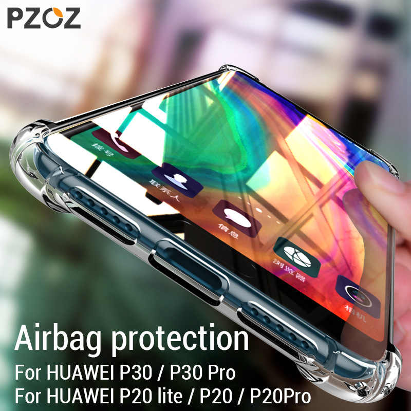 PZOZ P20 Case For Huawei P20 P30 Lite Pro Luxury Shockproof Silicon TPU Soft Cover phone For Huawei P20Pro Nova 3e 4e 20 p20lite