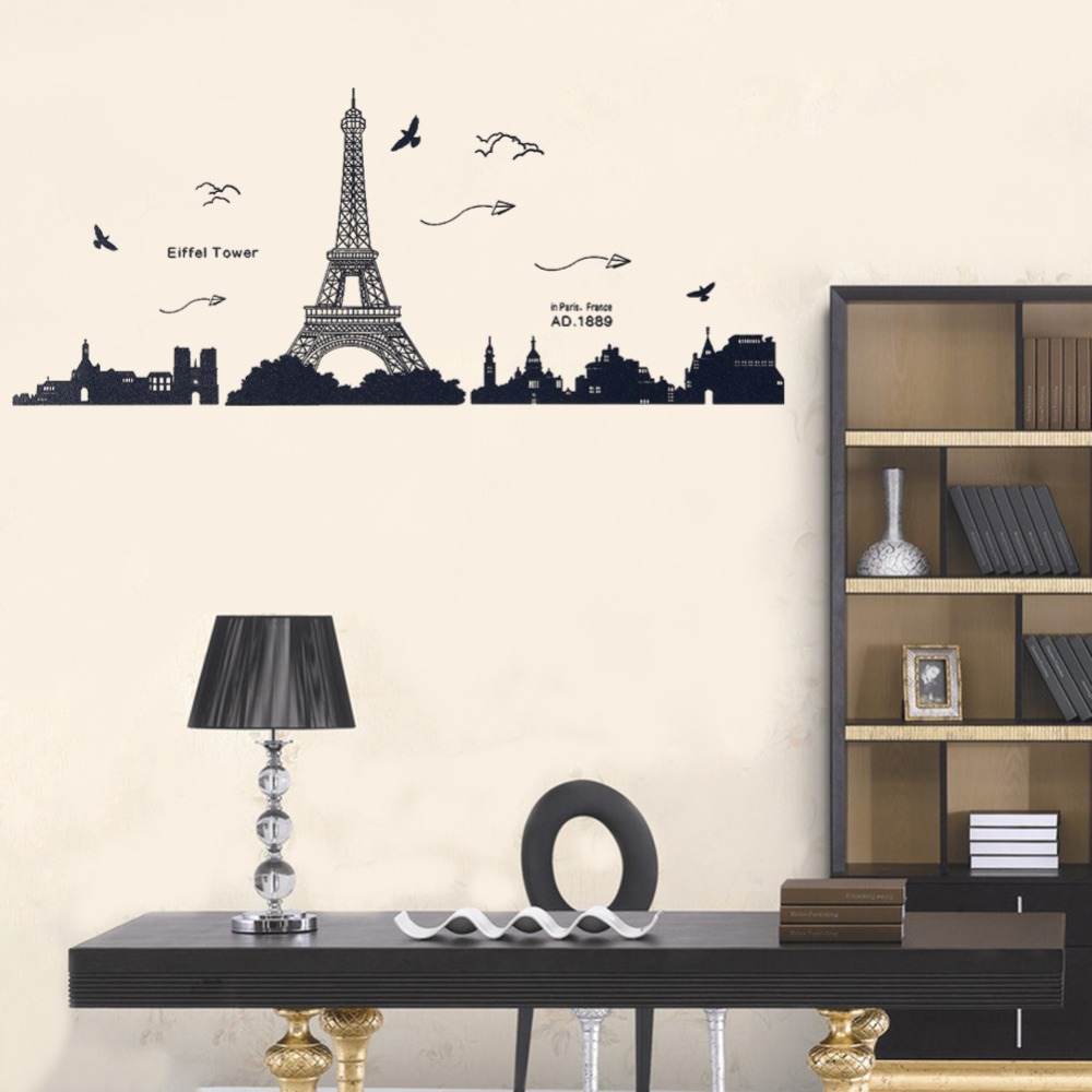 Paris eiffel tower wall sticker art decal removable wall sticker paris eiffel tower wall sticker art decal removable wall sticker paris great sightseeing wall stickers mural prevail home decor in wall stickers from home amipublicfo Images