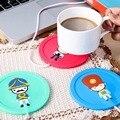 Hermoso diseño 5 v usb de silicona de calor calentador del calentador de leche té café taza bebidas calientes bebidas copa 3.75 w 9.5x0.6 cm 3 colores