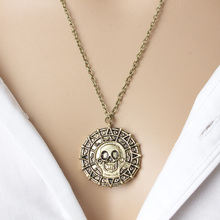 2017 new Hot Wholesale Fashion Jewelry Vintage Charm Aztec Coin Pendant Necklace Pirates of the Caribbean Necklace