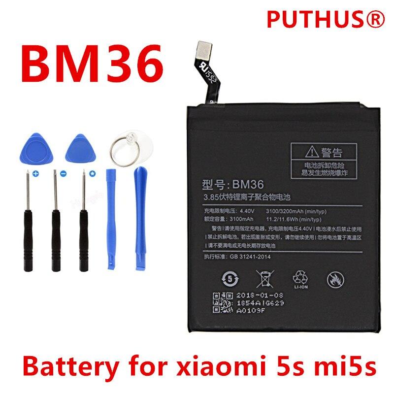 Bm36-Battery Replacement Mobile-Phone-Bateria Xiaomi 3200mah For Mi5s Repair-Tools High-Capacity