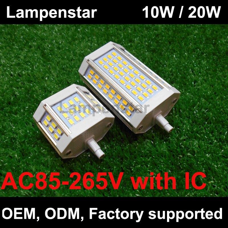 R7s led bulb 78mm 118mm 10w 15w 18w 20w 25w 30w r7s led for R7s led 118mm 20w