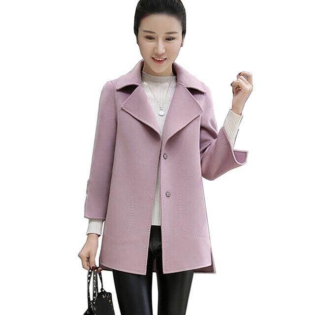 2017 autumn winter new fashion women coat plus size wool ladies