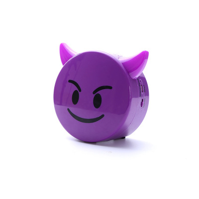 US $14 53  New chat cartoon expression Bluetooth speaker wireless mini  super cute emoji expression cut -in Portable Speakers from Consumer  Electronics