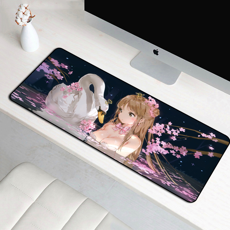 FFFAS 70x30cm anime cartoon <font><b>mouse</b></font> <font><b>pad</b></font> <font><b>large</b></font> size rubber bottom anti-slip keyboard mat laptop home office gifts mousepad mats <font><b>XXL</b></font> image