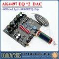 AK4497EQ * 2 + AK4118 macio controle DAC decodificador bordo com display LCD/controle Remoto, (sem AK4497 Chip)