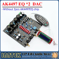 AK4497EQ *2 + AK4118 soft control DAC decoder board with LCD display / Remote control , ( Without AK4497 Chip)