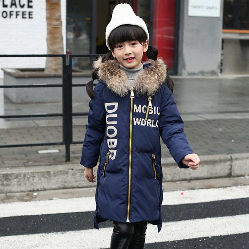 2017 Winter Down Jackets For Boys & Girls Children Winter Coat Outerwear New Fashion Hooded Thicken Warm Overcoat High Quality 2017 winter new women hooded wadded jacket coat parka overcoat velvet thicken warm outwear high quality cloud printing