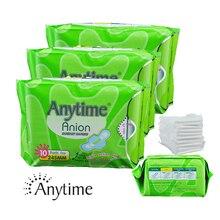 Lady Anion Sanitary Napkin Cotton Panty Liners Menstrual Pads 100% Quality Guarantee 3 Packs (30 Pads) anion pads negative ion