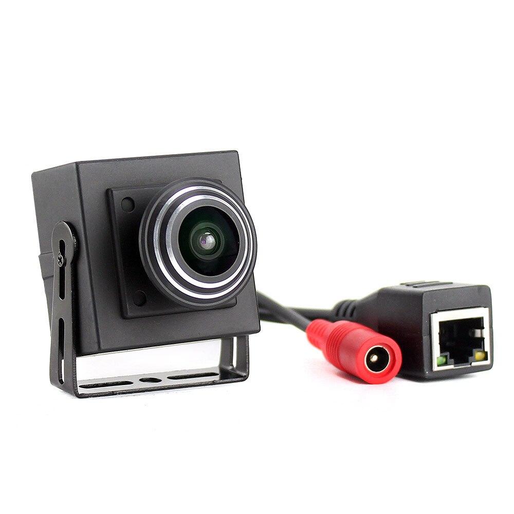 Ampla Visão de 170 graus Onvif 1080 P Micro Mini Rede IP Câmera Grande Angular 1.8 milímetros Lente Da Câmera IP Com Fio para o APLICATIVO de Smartphone