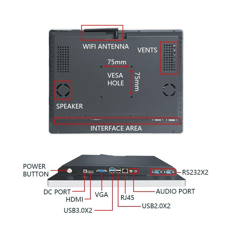 Lecteur de signalisation numérique android de kiosque d'information de plancher de 55 pouces - 3