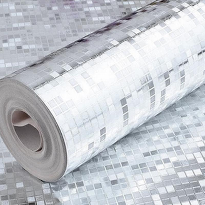 Mini Mosaic Tiles Luxury Metallic Design Glitter Silver Foil - Mosaik fliesen metallic