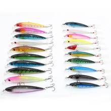 20Pcs/package Fishing Lure Set Wobbler Set Combined Colour Minnow Fish Provides Faux Lure For Carp Bass 7g/13.5g