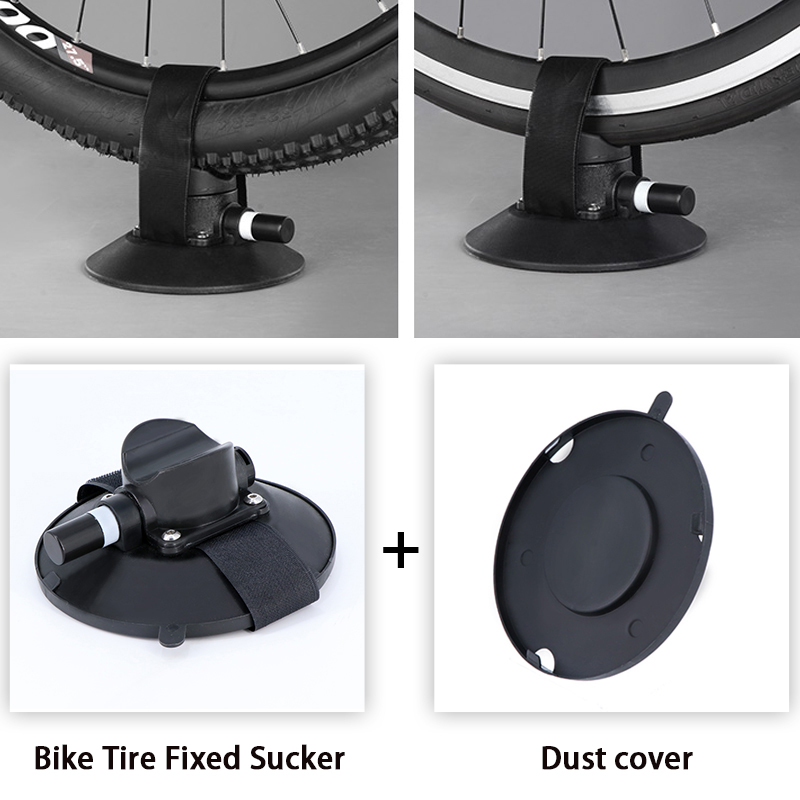 """ROCKBROS Sucker Bike Rear Tire Fixing Bicycle Rack Roof-Top Suction Rear Tire Fixed Device for Less than 29"""" MTB Road Bike Tire"""