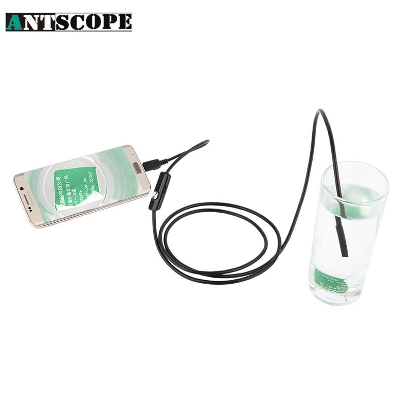 bilder für Antscope 3,5 Mt Android endoscopio OTG Telefon 5,5mm objektiv inspektion Rohr, IP67 Wasserdicht seitenspiegel 130 Watt 720 P HD USB Kamera