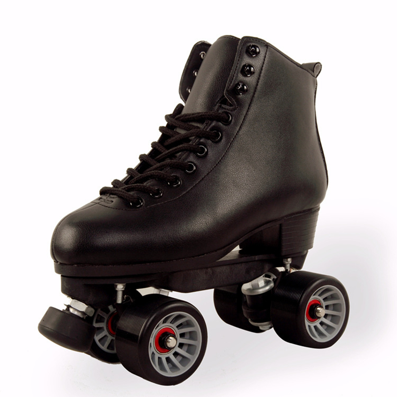 [Recommend] Cool Branded FLYING TIGERS Roller Skates, Dual Two Lines Roller Skate Full Grain Leather Cover Strengthen Base