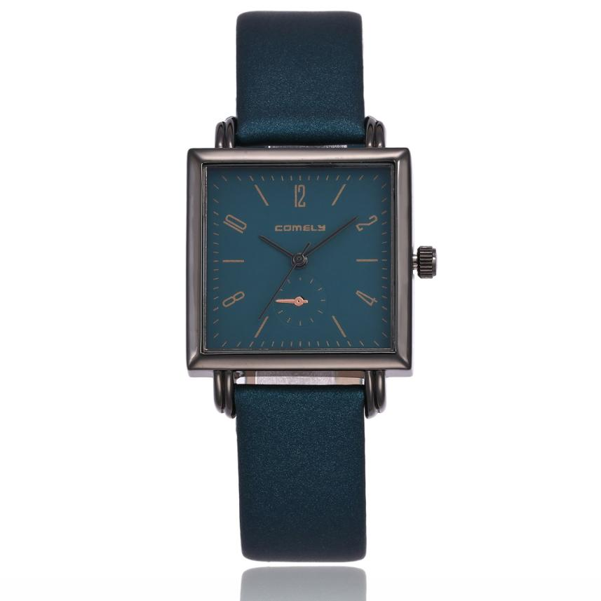 Women Fashion Leather Band Analog Quartz Square Wrist Watch Watches Women Digital JA02 Drop Shipping super speed v0169 fashionable silicone band men s quartz analog wrist watch blue 1 x lr626