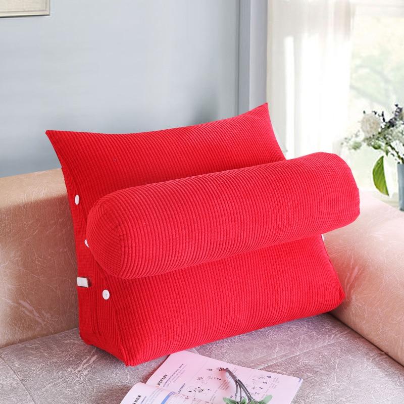 Home & Garden Dedicated 2017 Hot Sell Bed Triangular Cushion Sofa Big Pillow Bedside Lumbar Chair Backrest Lazy Pillow Triangle Pillow Winter Table & Sofa Linens