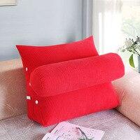 2017 Hot Sell Bed Triangular Cushion Sofa Big Pillow Bedside Lumbar Chair Backrest Lazy Pillow Triangle Pillow Winter