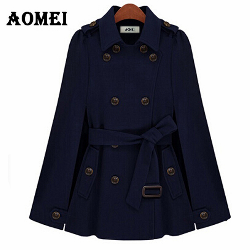 Зимнее женское пальто, модное пальто с двойными пуговицами, с поясом на талии, осенняя женская верхняя одежда темно-синего цвета, Manteau Femme, осенняя одежда