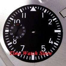 ce67b0067e8 Sterial dial fit 6497 movimento Parnis 38.9mm preto mostrador do Relógio  Luminoso branco marcas D01