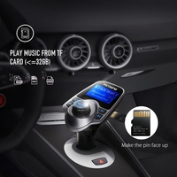 Wireless In Car FM Transmitter Radio Adapter Car Kit With Display And USB Car Charger TF