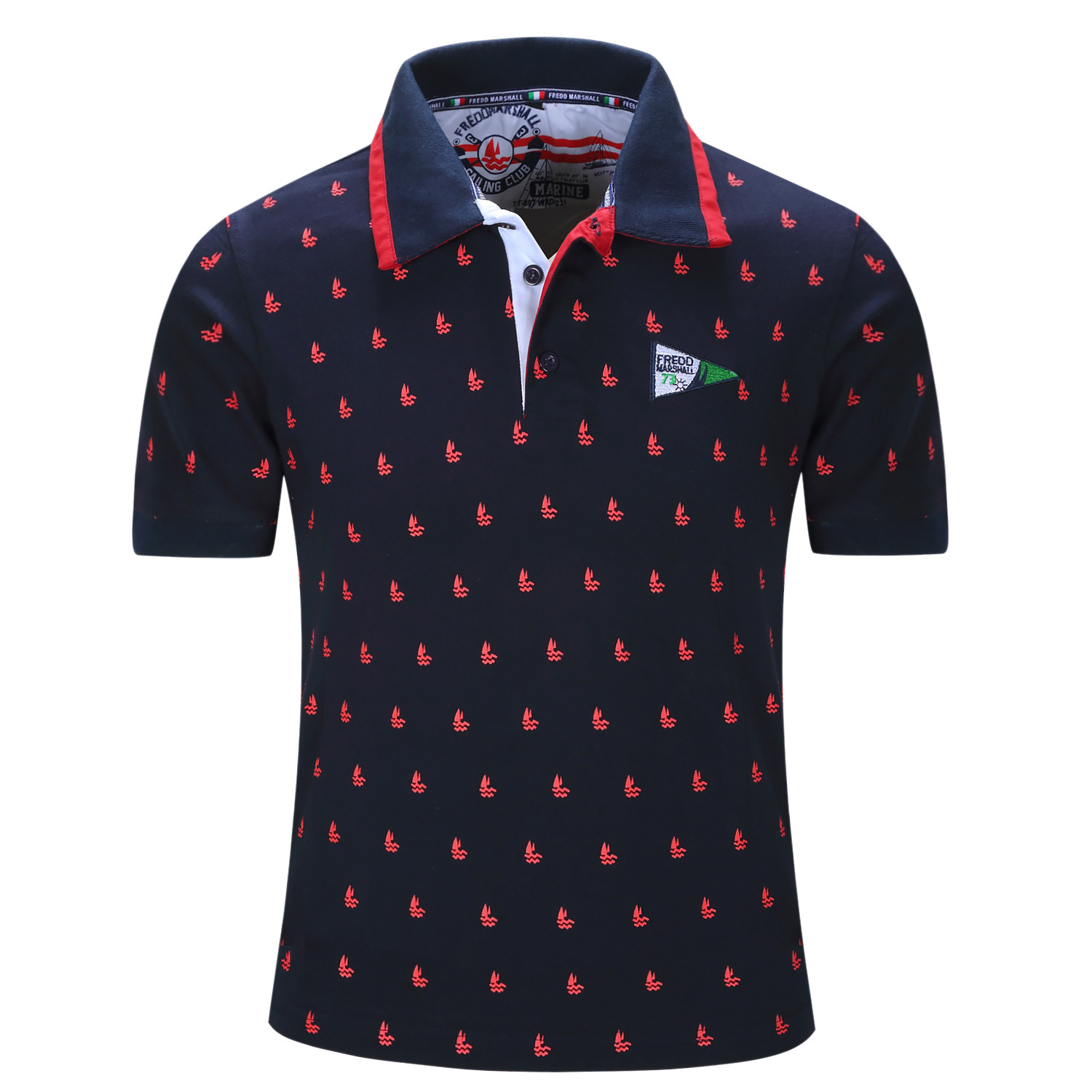 New Men   Polo   Shirt 100% cotton Mens Solid   Polo   Casual Short sleeve Tops summer Man Full Print   polos   shirt Plus Size