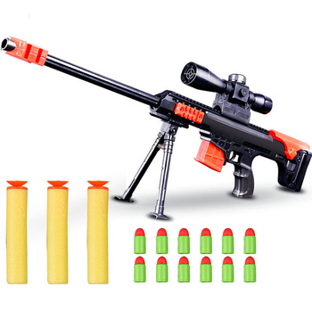 Blaster Soft Bullet Gun Sniper Rifle Airsoft Toy For Boys Children Outdoor Sports CS Games Plastic Air Paintball Guns Model Toys