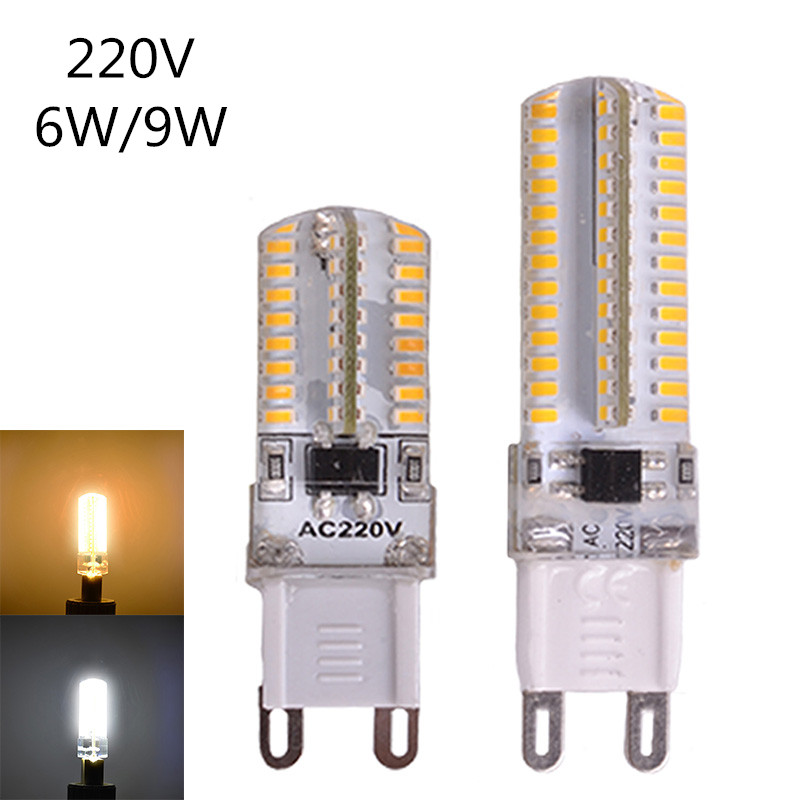 <font><b>G9</b></font> <font><b>LED</b></font> 220V Mini <font><b>G9</b></font> <font><b>LED</b></font> Bulb <font><b>6W</b></font> 9W <font><b>LED</b></font> <font><b>G9</b></font> Lamp SMD3014 Chandelier Light High Quality Corn Bulb 360 Degrees for Home Decoration image
