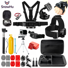 SnowHu Sport camera Accessories set 360-degree Rotation Glove-style Mount For GoPro Hero 7 6 5 4 3  for Eken h9 for Yi 4k   GS80 puluz adapter mount for gopro hero 5 6 7 360 degree rotation bike aluminum handlebar mount screw for gopro hero 7