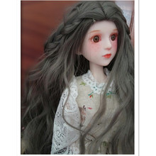 купить BEIOUFENG 1/3 1/4 1/6 1/8 BJD Doll Wig Long Wavy Wigs SD BJD Wig,High Temperature Fiber Hair for Dolls Accessories Many Colors онлайн