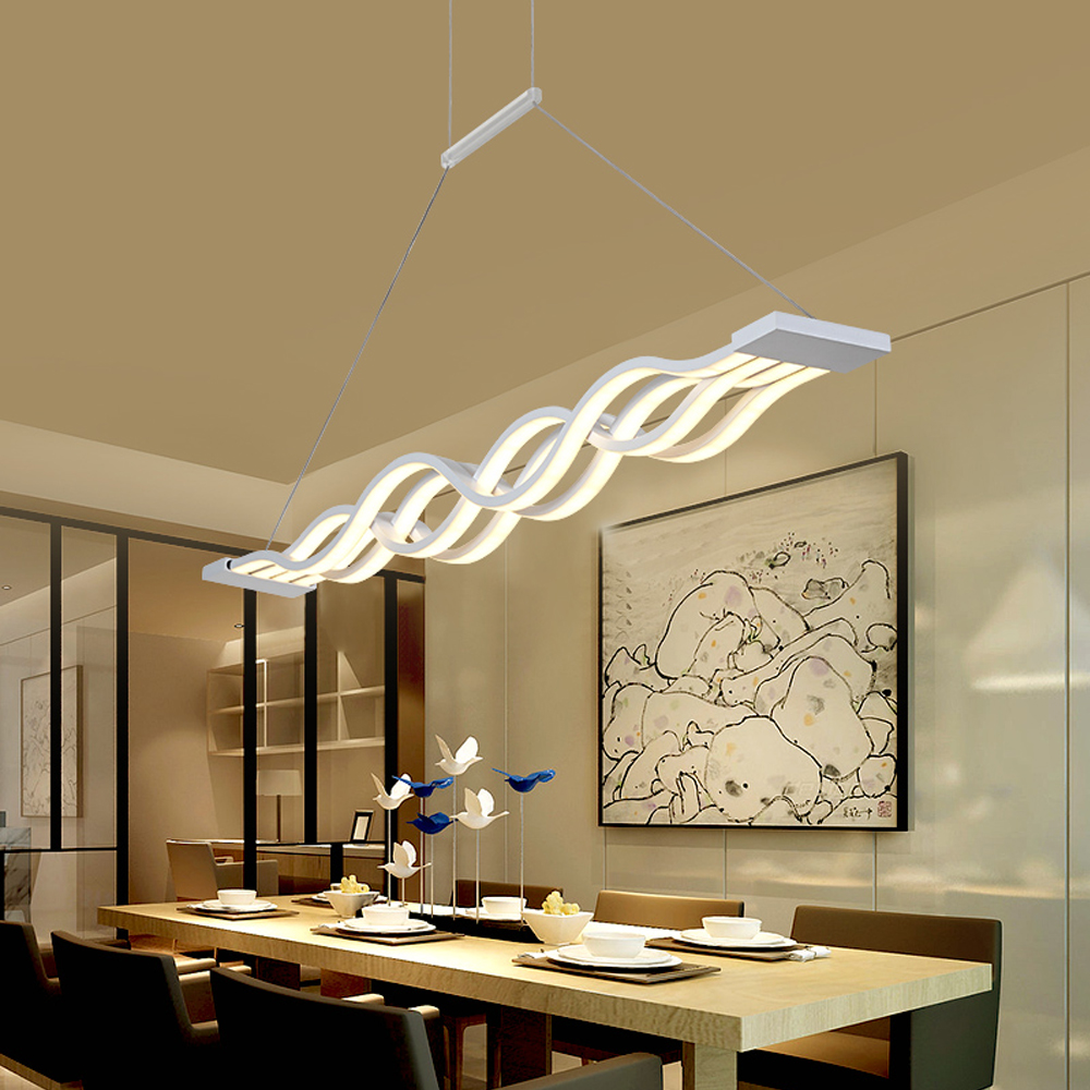 Modern Led Pendant Lamp Dinning Living Room Led lighting Chandelier AC90-260V Acrylic For Living Room lustre lamparas Luminaire