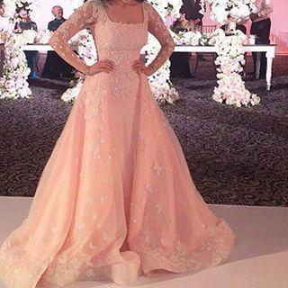 2018 Women Elegant Evening Long Sleeve A Line Women Formal Gown Robe De Soiree Vestido De Novia Mother Of The Bride Dresses