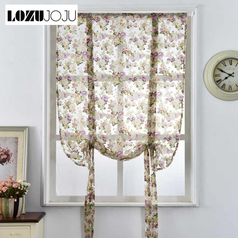 Lozujoju Roman Fabrics For Modern Voile Curtains Door Cafe Panel