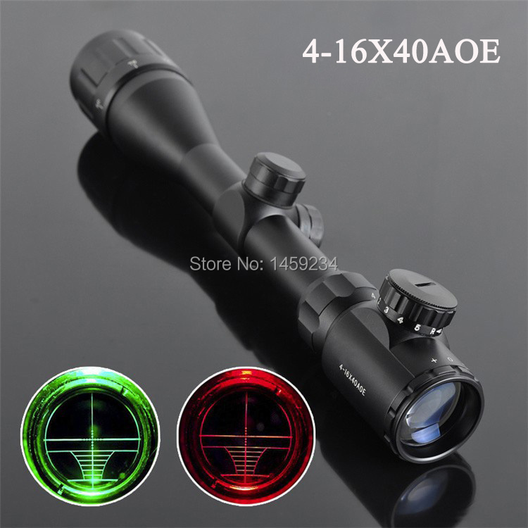 4-16X40 AOE Riflescope R&G illuminated Riflescope Reticle Shotgun Rifle sniper Scope for hunting free shipping magpul g lt p moe sniper rifle limited edition