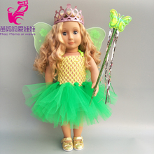 doll clothes  43cm Baby butterfly wing dress set for 18inch crown Magic wand