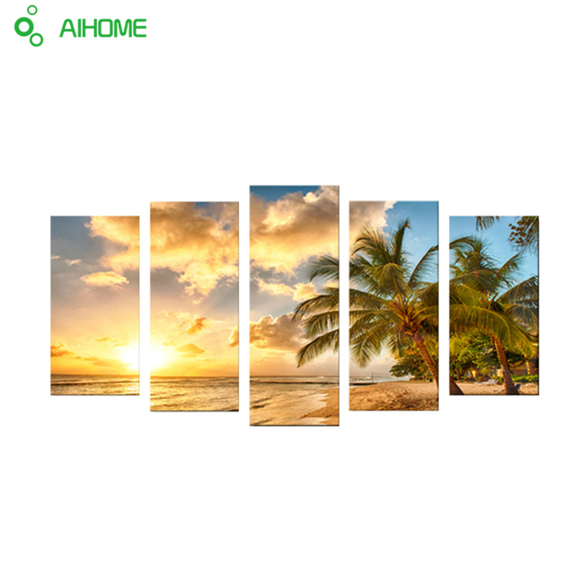 Aliexpress.com : Buy Unframed Hawaiian Ocean View Modern Home Wall Decor Canvas Picture Art HD Print Painting On Canvas Artworks 5 Panels from ...