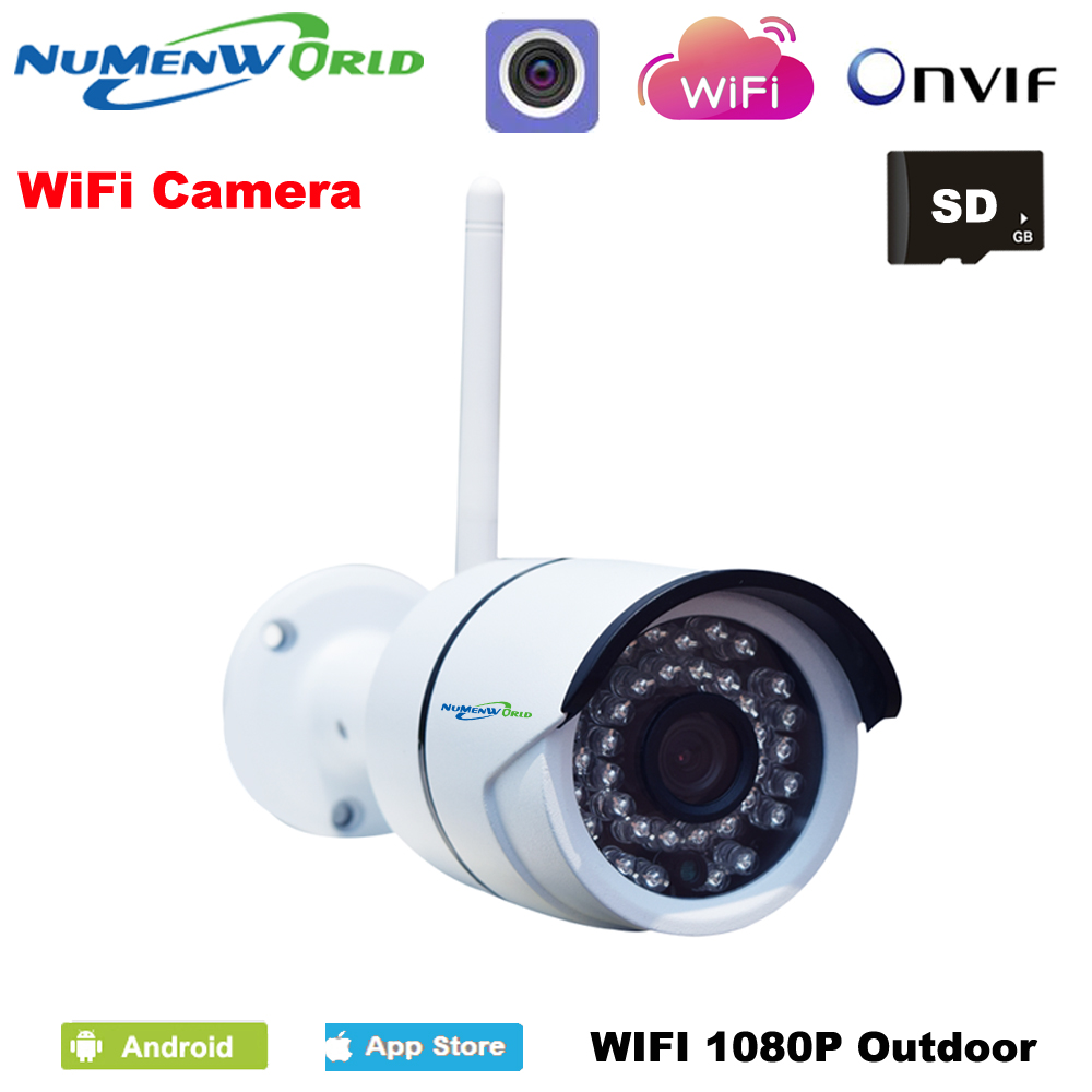 Waterproof P2P ONVIF Wifi 2MP Megapixel Wireless IR Network IP camera 1080P HD Outdoor Video surveillance security camera CCTV escam qd900 wifi ip camera 2mp full hd 1080p network infrared bullet ip66 onvif outdoor waterproof wireless cctv camera