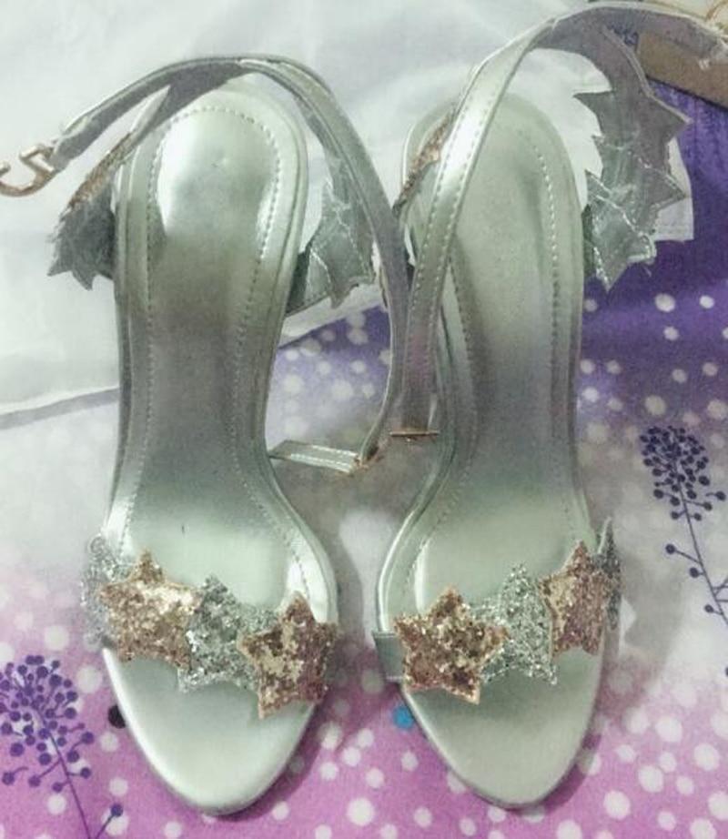 Multi Sandalias 4 Bling Tobillo 2 Nupciales Lentejuelas Brillo 1 color Alto Color Correa color Boda 3 Estrella Tacón Correas De color Zapatos Lujo n4xzwz