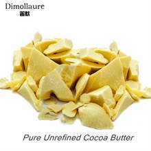 Dimollaure Dimurnikan Cocoa Butter Baku 50g-200g Pure Cocoa Butter Base Oil Food Grade Natural Organic Essential Oil perawatan kulit