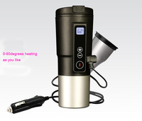 Ten Minutes Quick Heating Cup Car Thermos with USB Charger Electric Car Boiling Bottle Water Heater Good for Coffee Milk Hot