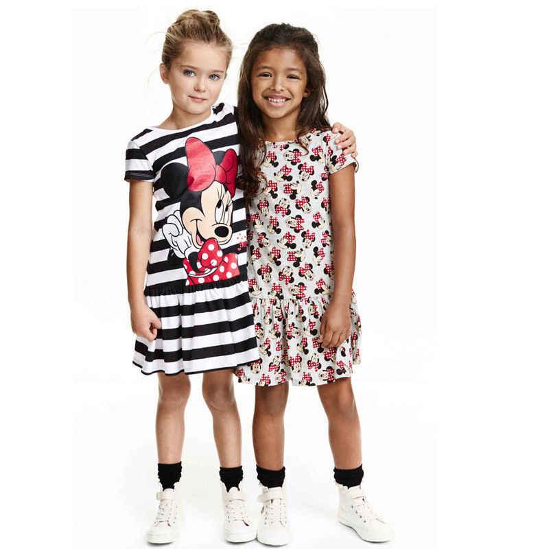 7372514fbd3 2016 летние детские платье для девочки в полоску платья принцессы костюм с  мышкой из мультфильма детская