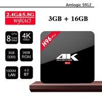 H96 Pro IPTV Box 4K Android TV Box Amlogic S912 Octa Core ARM Cortex A53 Media