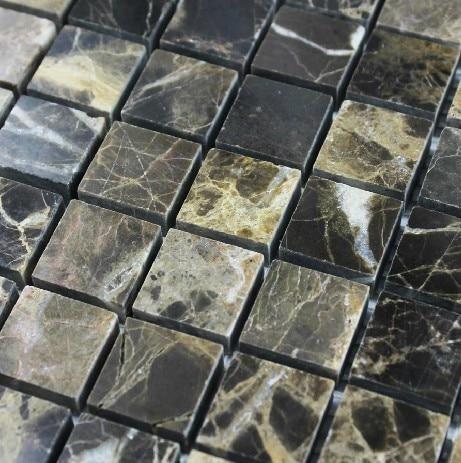 Dark Brown Stone Mosaic Tile Kitchen Backsplash Stmt021 Stone Mosaic