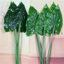 Plastic Artificial Plants Leaves For Decoration Tropical Monstera Garden And Backyard